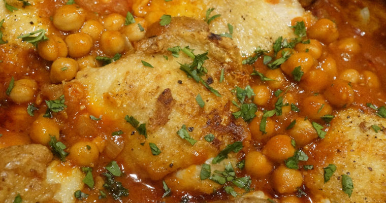 Chicken and Harissa Chick Peas