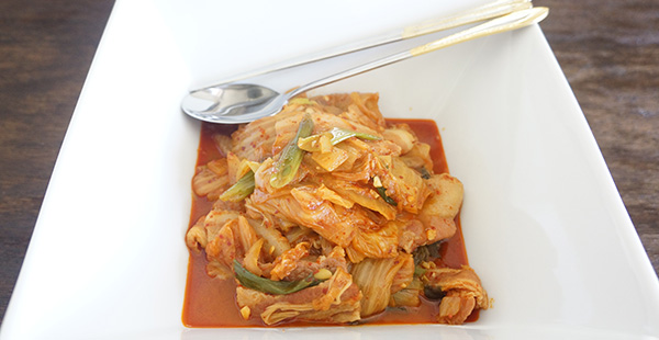Spicy Korean Cabbage and Pork Stew (kimchi jjigae)