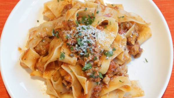 Pappardelle with Sausage and Pork Ragu