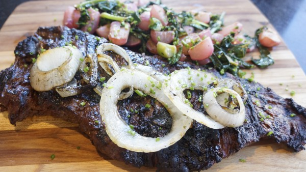 Marinated and Grilled Skirt Steak