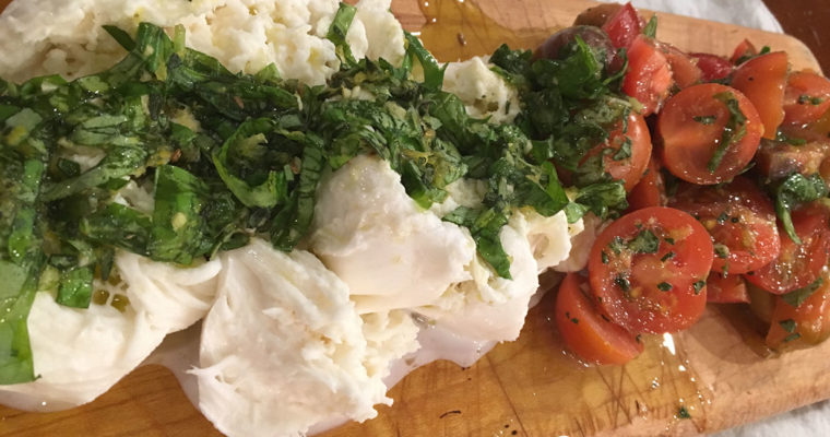 Marinated Buffalo Mozzarella and Tomato