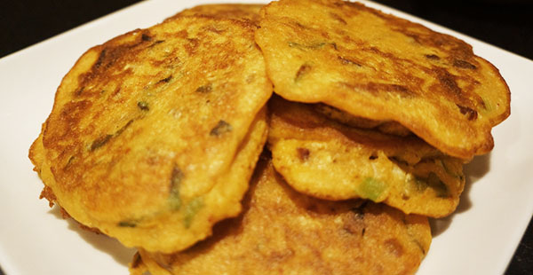 Bacon Bindaettaek (Korean mung bean pancakes)