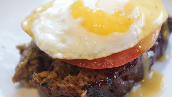 Bourbon and Coke Meatloaf with Fried Egg and Black Pepper Gravy