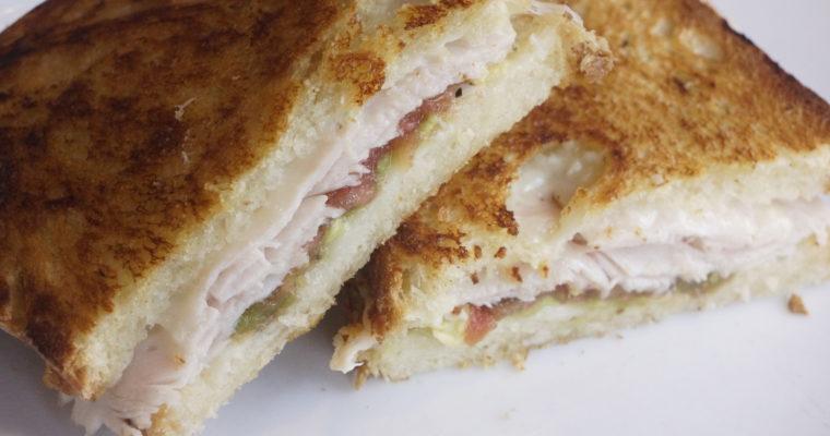 Leftover Turkey Pressed Sandwiches