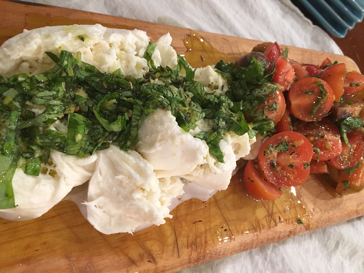Marinated Buffalo Mozzarella and Tomato